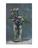 Carnations and Clematis in a Crystal Vase Art by &#201;douard Manet