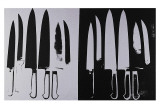 Knives, c.1982 (Silver and Black) Prints by Andy Warhol