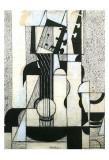 Still Life with Guitar Print van Juan Gris