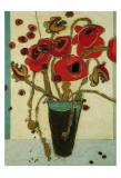 Poppies with Snap Pods Posters par Karen Tusinski