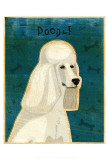 Poodle (white) Prints by John Golden