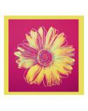 Marguerite (1982, fuschia et jaune) Affiche par Andy Warhol