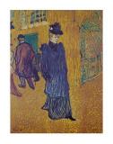 Henri de Toulouse-Lautrec - Jane Avril leaves the Moulin Rouge - Reprodüksiyon