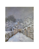 Snow at Louveciennes, France, c.1878 Poster av Alfred Sisley