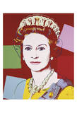 Reigning Queens: Queen Elizabeth II of the United Kingdom, c.1985 (Dark Outline) Print by Andy Warhol
