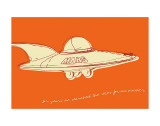 Lunastrella Flying Saucer Print by John Golden