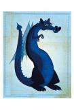 Blue Dragon Schilderij van John Golden