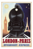 London-Paris Overnight Express Posters by Steve Forney