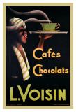 Reclameposter koffie en chocolade, Franse tekst: L. Voisin Cafés, Chocolats, 1935 Schilderijen van Noel Saunier