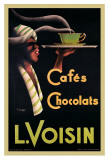 L. Voisin Cafes and Chocolats, 1935 Prints by Noel Saunier