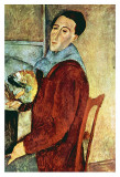 Self Portrait Planscher av Amedeo Modigliani