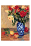 Roses in a Mexican Vase Print by B. Oliver