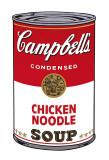 Campbells suppe I: kylling og nudler, c. 1968 Plakater av Andy Warhol