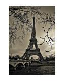 Die Kurven des Eiffelturms Poster von Sabri Irmak