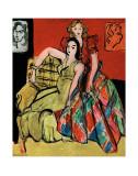 Two Young Women, the Yellow Dress and the Scottish Dress, c.1941 Poster av Henri Matisse
