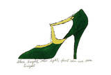 Shoe, c.1955 (Green and Yellow) Posters par Andy Warhol