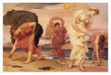 Greek Girls Picking up Pebbles Posters by Frederick Leighton