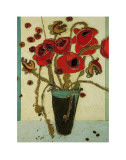 Poppies with Snap Pods Prints by Karen Tusinski