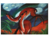 Red Deer II Prints by Franz Marc