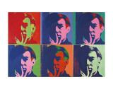 A Set of Six Self-Portraits, 1967 Plakat af Andy Warhol