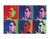 A Set of Six Self-Portraits, 1967 Print by Andy Warhol