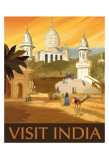 Visit India Print by Kem Mcnair
