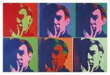 Ensemble de six autoportraits, 1967 Affiches par Andy Warhol