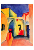 View into a Lane, 1914 Art by Auguste Macke