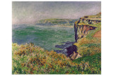 The Cliff at Varengeville, c.1882 Print by Claude Monet
