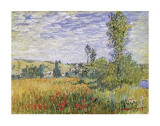 Landscape at Vetheuil Print by Claude Monet