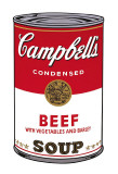 Campbell&#39;s Soup I: Beef, c.1968 Art by Andy Warhol
