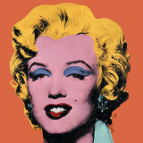 Marilyn Monroe su sfondo arancione, 1964 Poster di Andy Warhol