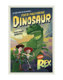 Force Field Eating Dinosaur Poster