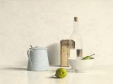Two Pears, Bottle, Can and Jug Poster par Willem de Bont