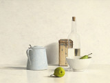 Two Pears, Bottle, Can and Jug Poster by Willem de Bont