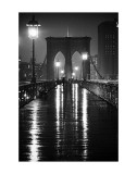 Pont de Brooklyn, New York Affiche par Oleg Lugovskoy