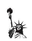 Statue of Liberty (outline) Plakater af Erin Clark