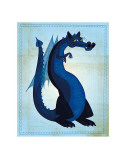Blue Dragon Prints by John Golden