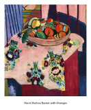 Basket with Oranges Posters por Henri Matisse
