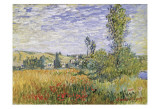 Landscape at Vetheuil Prints by Claude Monet
