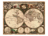 World Map, 1660 Posters