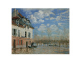 A Boat During the Flood at Port Marly, c.1876 Prints by Alfred Sisley