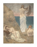 Young Women at the Sea Shore Print by Pierre Puvis de Chavannes