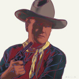 Cowboys and Indians: John Wayne 201/250, 1986 Art by Andy Warhol