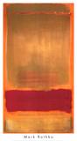 Zonder titel, ca.1949, rood/oranje balk op geel vlak Posters van Mark Rothko