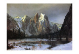 Cathedral Rock Yosemite Print by Albert Bierstadt