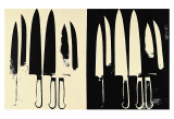 Knives, c. 1981-82 (cream and black) Posters par Andy Warhol