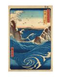 Rough Sea at Naruto in Awa Province Plakater af Ando Hiroshige