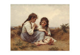 Childhood Idyll Poster by William Adolphe Bouguereau
