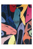 Diamantstoftskor, 1980, lila, blå, grön Affischer av Andy Warhol